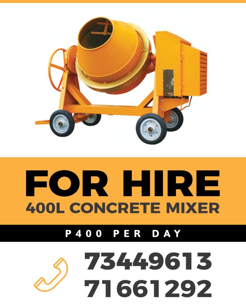 Cement mixer Rental